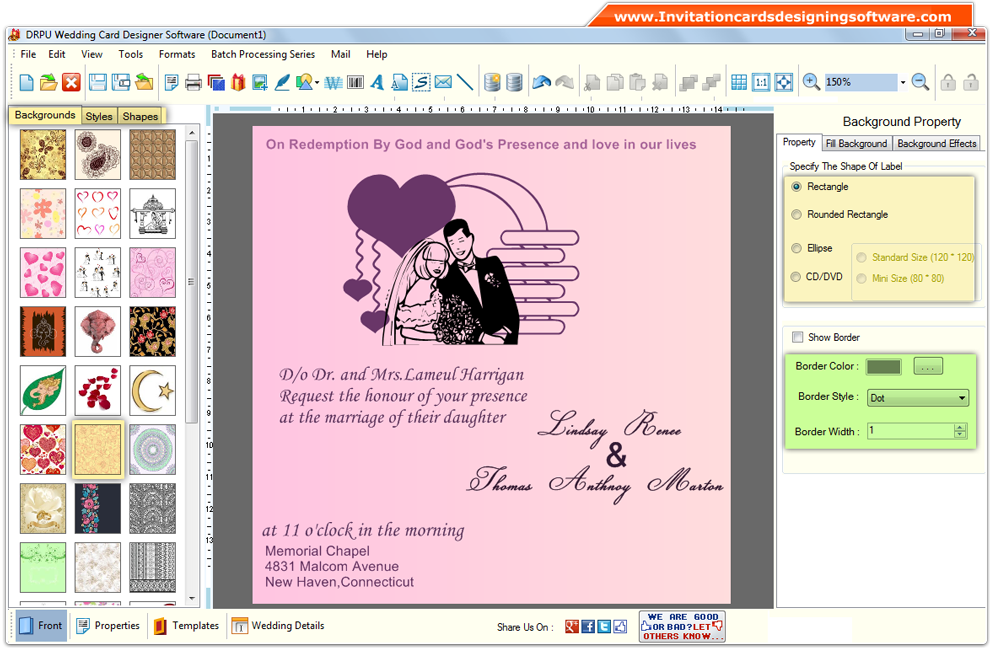Software Wedding Invitations: Drpu Wedding Cards Designer Software Cracker
